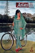 Vintage Indian cycling adverisement poster - Atlas